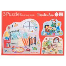 Puzzle, 3 kirakó kicsiknek - Moulin Roty