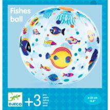 Felfújható labda - Halacskák,  35 cm ø