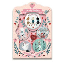 Cats lovely badges