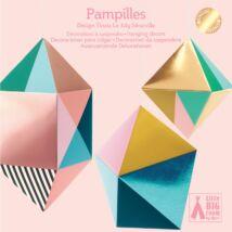 3D-s függődísz – Fémes formák – Pampilles