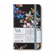 Bookaroo jegyzetfüzet (A6) - Kilburn Black Floral