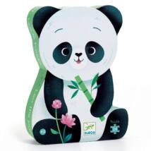 Formadobozos puzzle - Leo the panda, 24 db-os