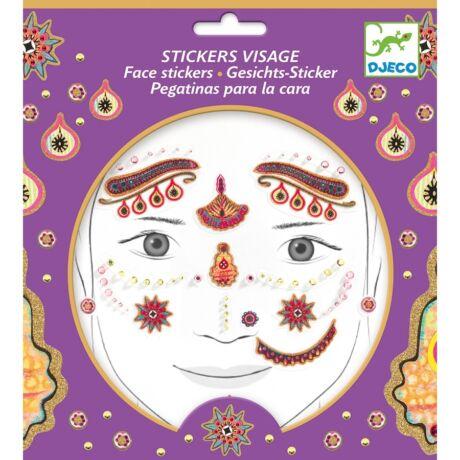 Arc dekoráló matrica - India hercegnő