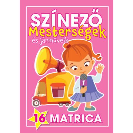 Színező - Mesterségek és járműveik (Lányok)