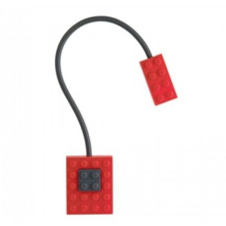 Csiptetős könyvlámpa, piros - Block Light