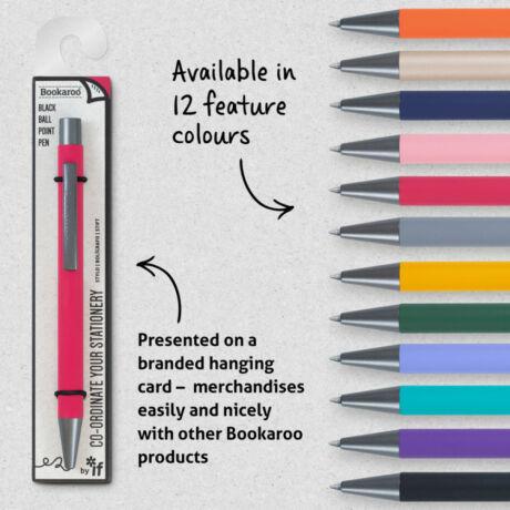 Bookaroo golyóstoll - különböző színek (ár/db.)